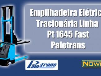 Empilhadeira Elétrica Tracionária PT 1645 Fast Paletrans